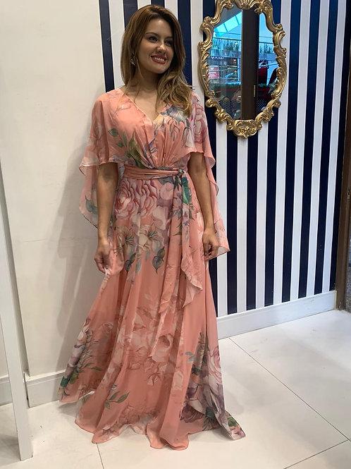Vestido Floral Capa