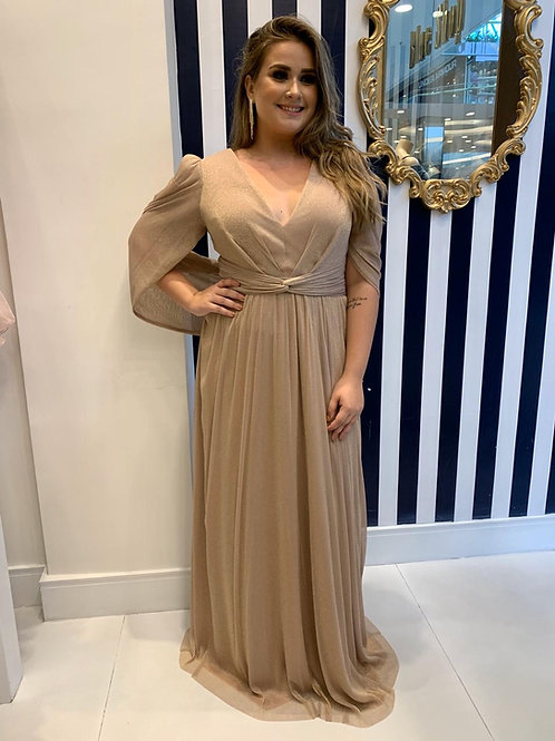 Vestido de Lurex Plus Size