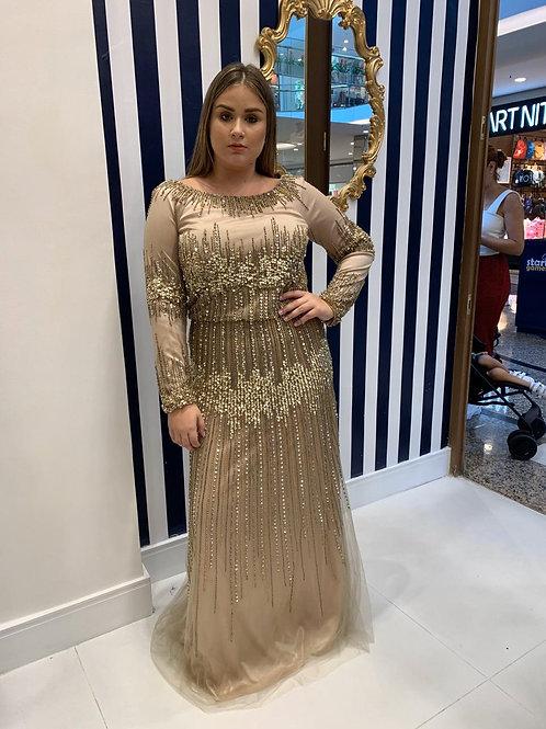 Vestido Plus Size de Pedraria