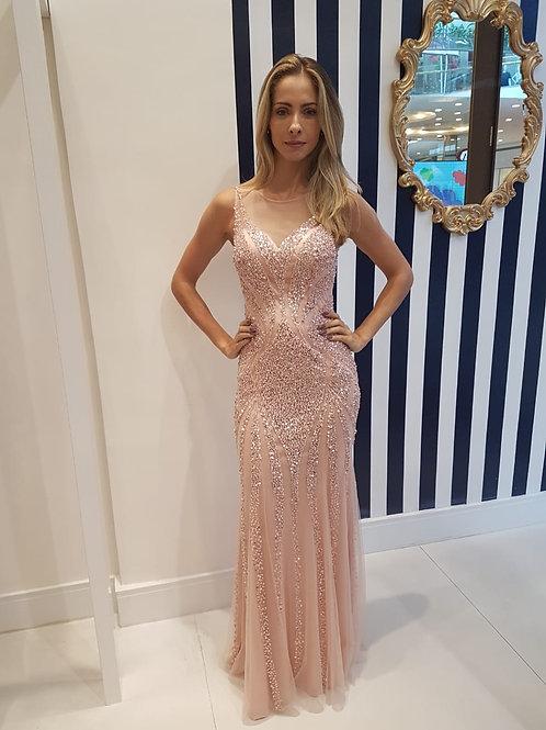 Vestido Rosê de Pedraria