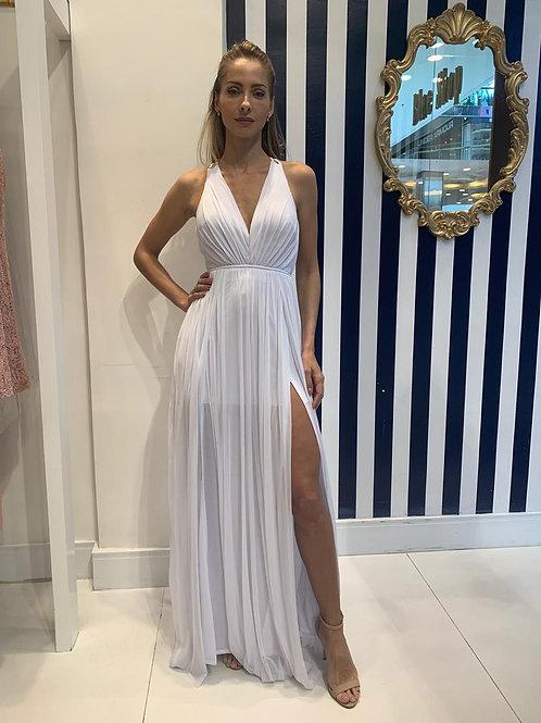 Vestido Fluido com Maxi Fenda