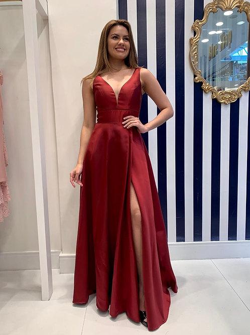 Vestido de Alfaiataria com saia ampla