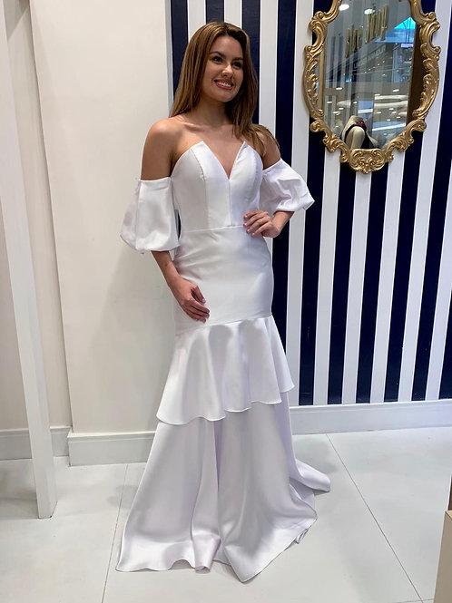 Vestido Branco de Alfaiataria