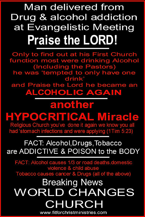 Alcohol Drugs World changes Church