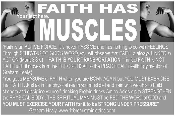 FAITH HAS MUSCLES