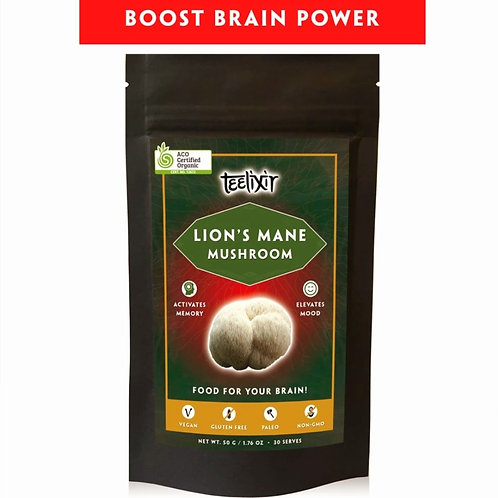 "Lions Mane Mushroom ""BRAIN"" Clarity & Power 50 grm"