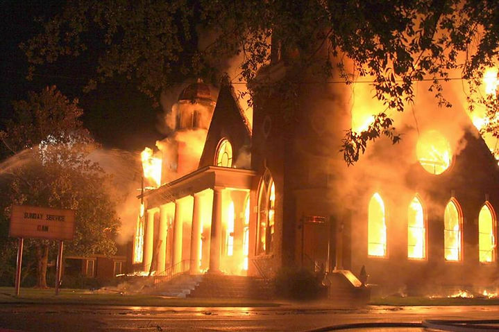 CHURCH ON FIRE