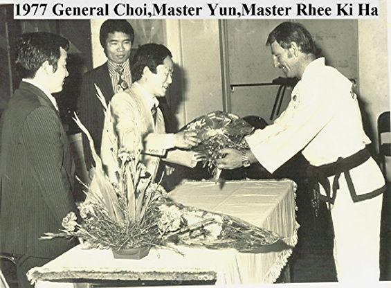 Master Yun, Gen Choi,Rhee Ki Ha ,Bernie Korent