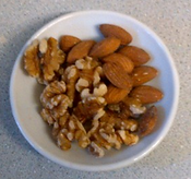 Almonds walnuts hazelnuts