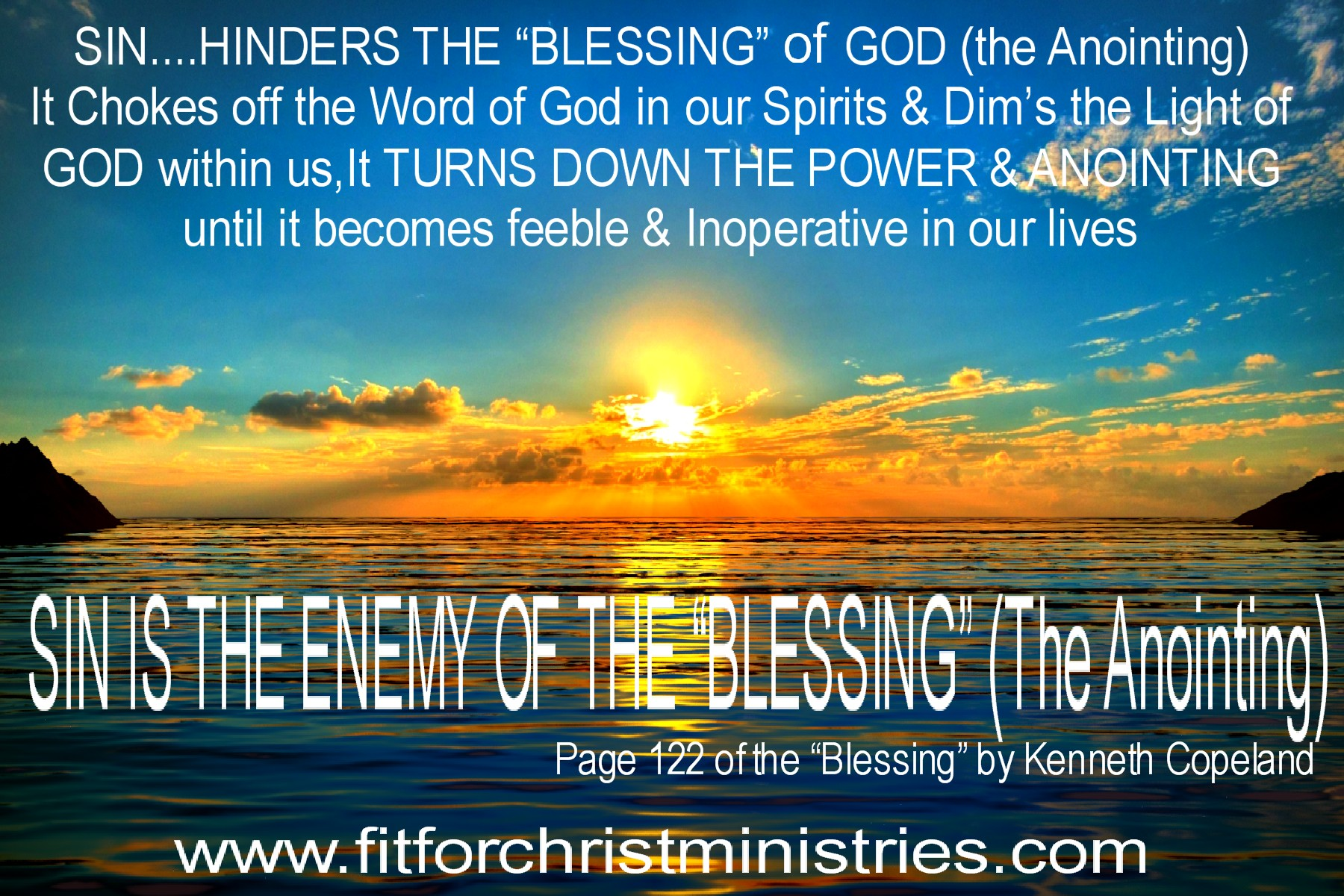 Sin is the Enemy of the Blessing-Anointing