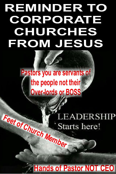 Pastors you are servants not Over-Lords