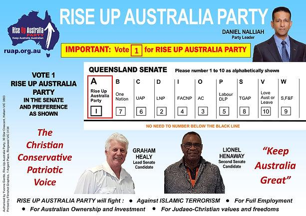 RISE UP AUSTRALIA ELECTIONS 2019