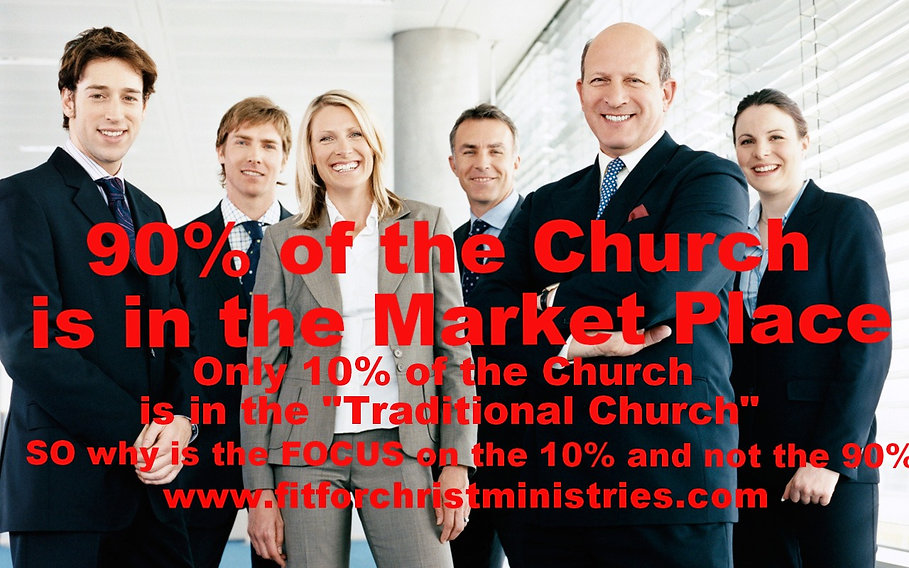 90 percent of Church in the Market Place