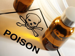 Poison bottles with Poison symbol and Skull and Crossbones..jpg