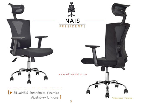 La silla ergonómica más vendida en Colombia - Silla Nais