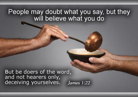 James 1:22-25 interpretation