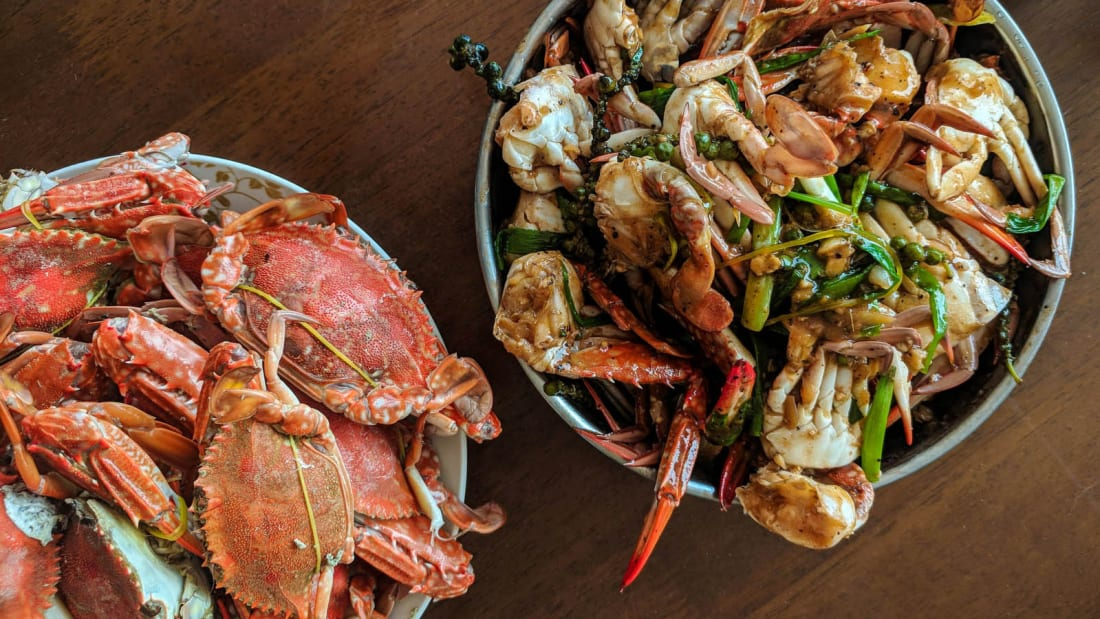 Cambodian Cuisine - Fried Crabs