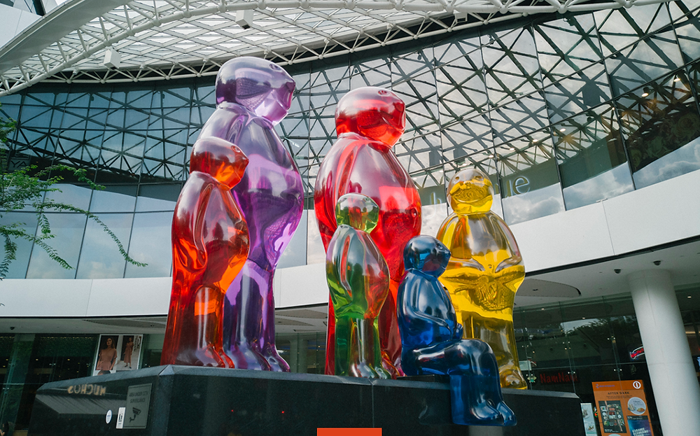 """Jelly Baby Family"" by Mauro Perucchetti 