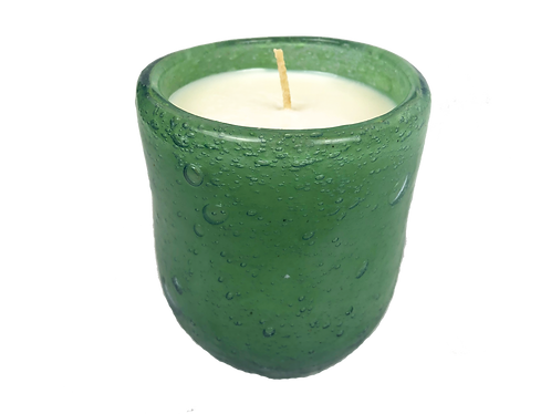 Handblown Recycled Glass Soy Candle - Citrus Pine