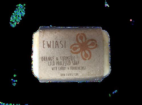 Cold Process Soap - Orange & Turmeric
