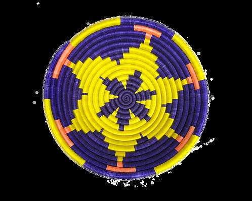 Flower Basket - Purple & Yellow