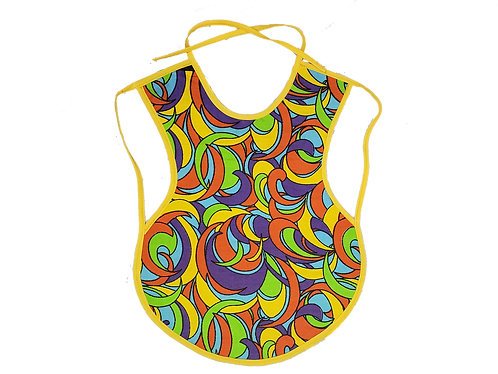 Waterproof Baby Bib lined with upcycled plastic