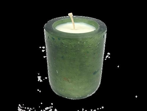 Handblown Recycled Glass Soy Candle - Cedar