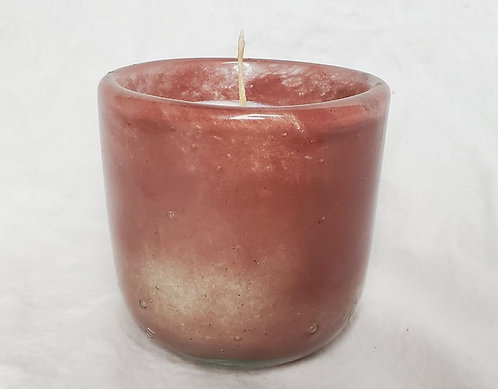 Handblown Recycled Glass Soy Candle - Lavender