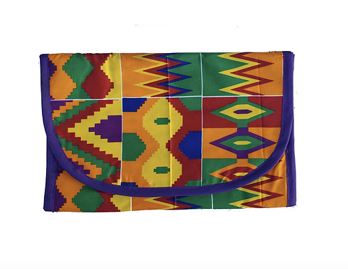 Cosmetics Bag in Colorful African Print