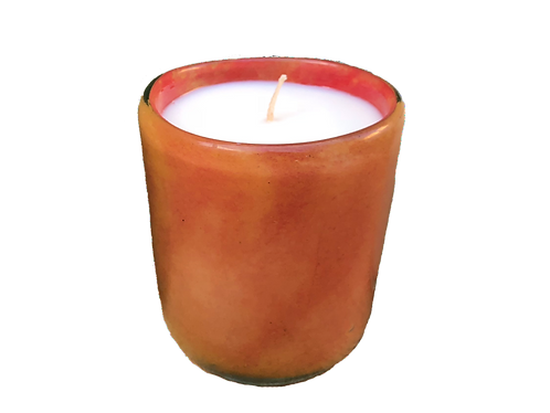 Handblown Recycled Glass Soy Candle - Grapefruit