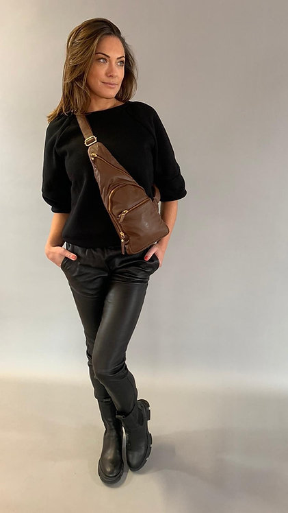 "EST'LEATHER BAG MIREL ""MUSTANG BROWN"""