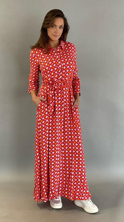 """EST'MAXI DRESS """"RED TILE"""""""