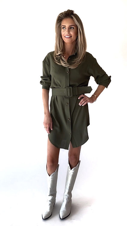 EST'OVERSIZED BLOUSE ARMY GREEN