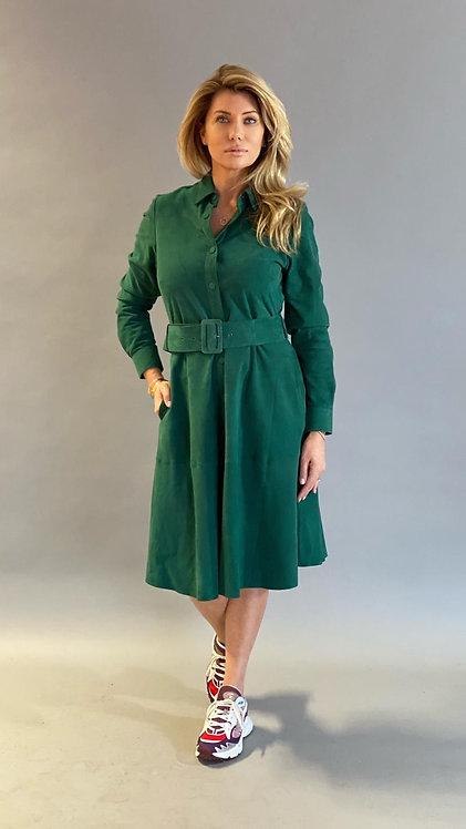 "EST'BUTTON DRESS ALINA ""EMERALD"""