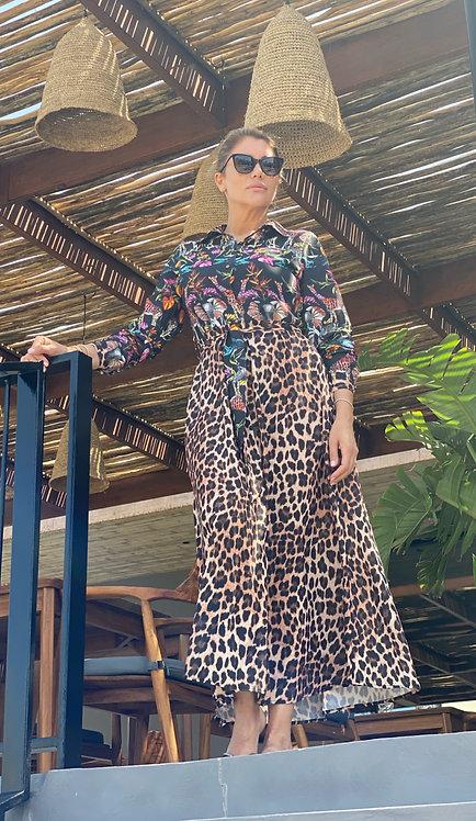 EST'JUNGLE&LEOPARD DRESS