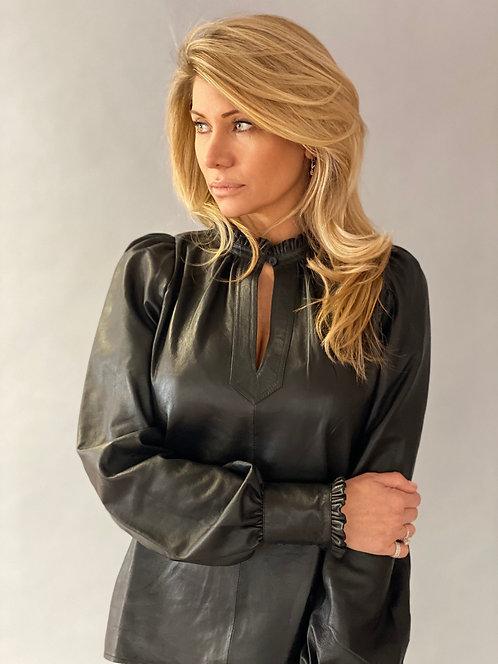 EST'ETOILE BLOUSE Black leather