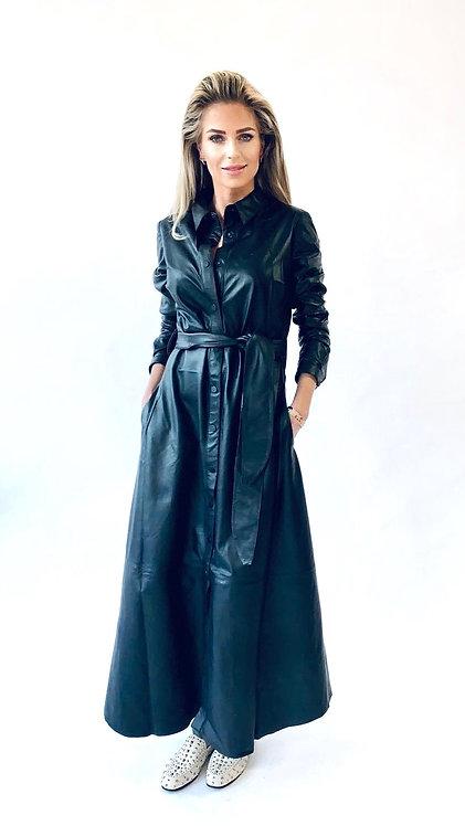 EST'BUTTON DOWN DRESS BLACK