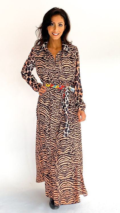 EST'ANNE TILE DRESS ZEBRA