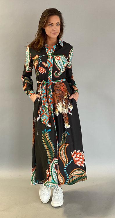 """PRE-ORDER / EST'TIGER MAXI DRESS """"BLACK"""""""