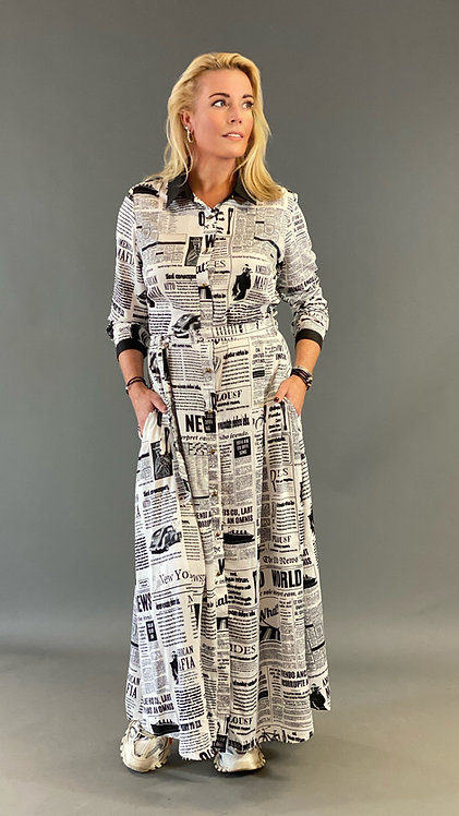EST'NEWS PAPER DRESS