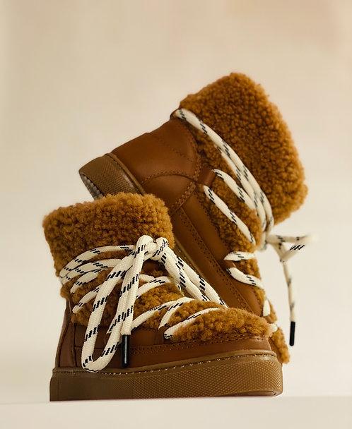 """Est'Mouton Boots Gurly Fur """"Cognac-Mustang Brown"""""""