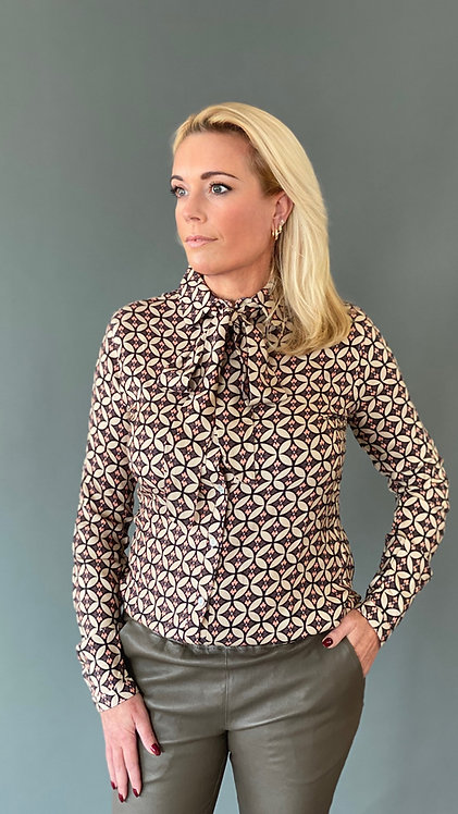 """EST' BOW BLOUSE """" A TOUCH OF CORAL"""""""