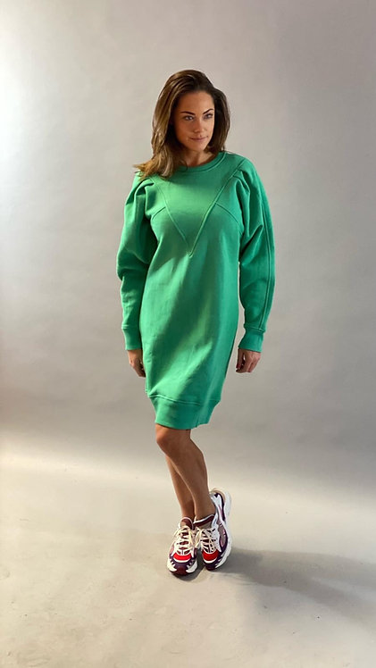 "EST'VETEMENTS V DRESS ""KELLY GREEN"""