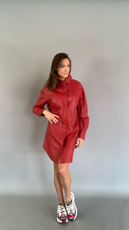 "EST'SEVEN OVERSIZED BLOUSE/DRESS ""TREU RED"""