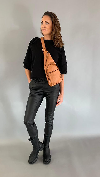 "EST'LEATHER BAG MIREL ""COGNAC"""