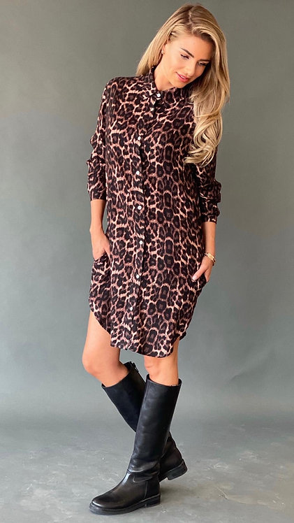 "EST'LONG BLOUSE POCKETS ""LEOPARD FALL"""