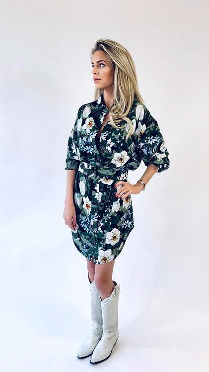 EST'BLOUSE-DRESS ARMY FLOWER