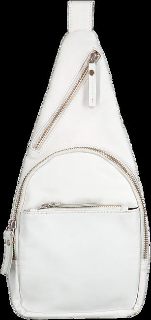 EST' LEATHER BAG MIREL WHITE (silver buckle slide)