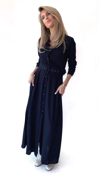 EST'LONG DRESS DARK BLUE
