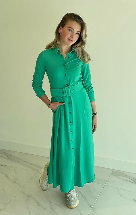 EST'MAXI DRESS BASIC EMERALD GREEN